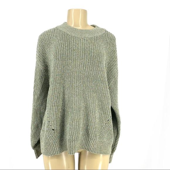c704f531ba487 H&M Sweaters | Hm Women Chunky Oversized Puff Sleeve Sweater | Poshmark